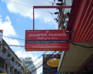 Jhasper Fashion is on your right hand side